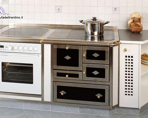 19 cucina combinata stufa del trentino - Stufa combinata legna pellet ...