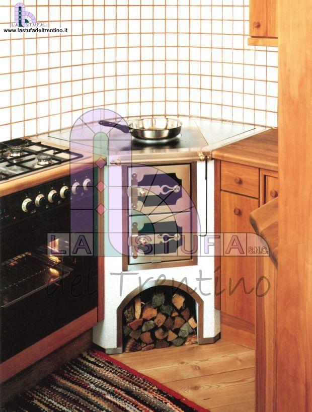 33 cucina ad angolo stufa del trentino - Cucine in muratura economiche ...