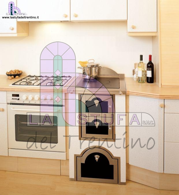 Cucine A Legna Moderne.61 Cucina A Legna Stufa Del Trentino