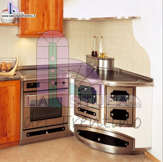 Mensole moderne a elle for Cucine a legna usate