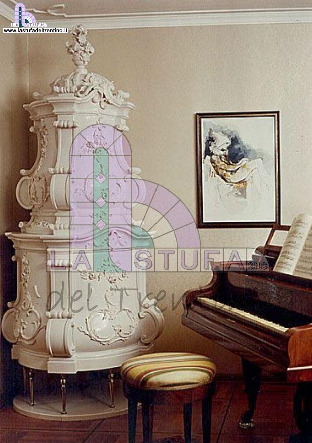 Barocco modello tre stufa del trentino - Stufe in maiolica stube ...